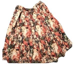 Floral Print Long Circle Skirt Easter